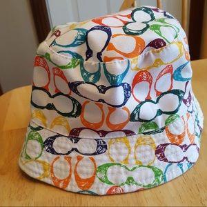 Coach colorful floppy bucket summer beach hat